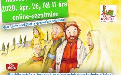 Képernyő-szentmise Húsvét 3. vasárnapján