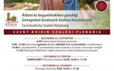A karácsonyi ünnepkör programja